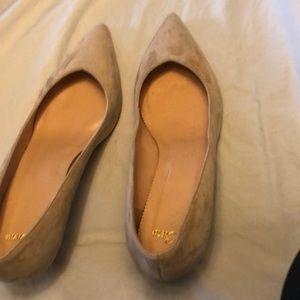 New J Crew Dulci blush suede kitten heel 9 shoes